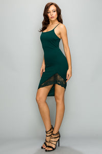 She Has It Made Bodycon Dress- Hunter Green