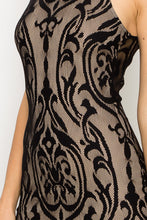Load image into Gallery viewer, Lace Overlay Bodycon Dress