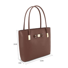 Load image into Gallery viewer, F16127 GESSY BOW DETAIL SHOULDER BAG IN COFFEE