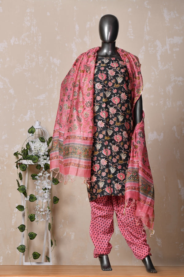 Premium Floral Unstitched Suit Set