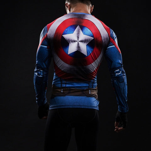 Captain America LS Rash Guard