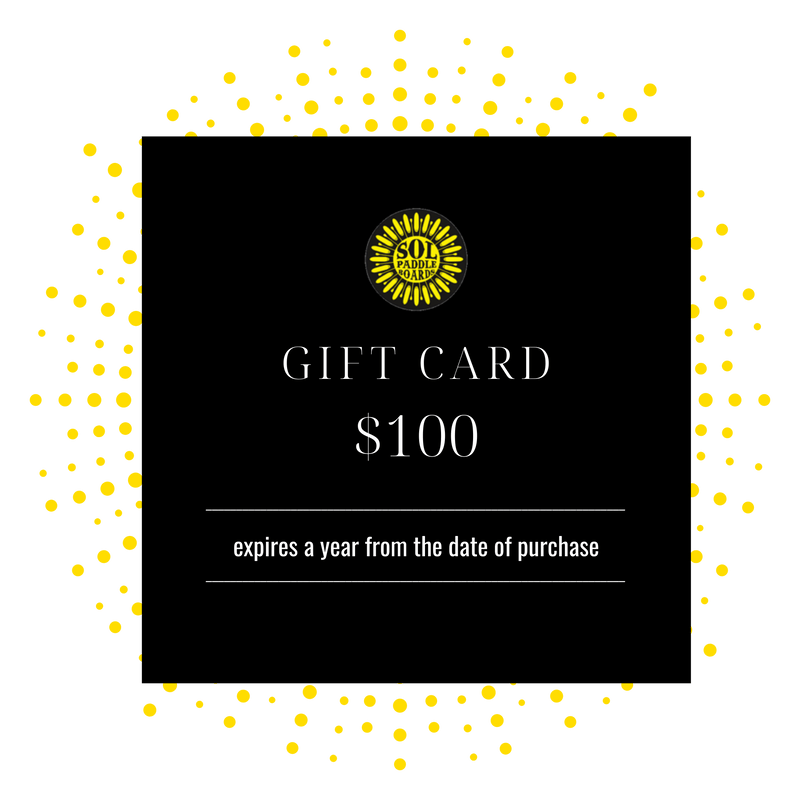 $100 SOL Paddle Boards Gift Card