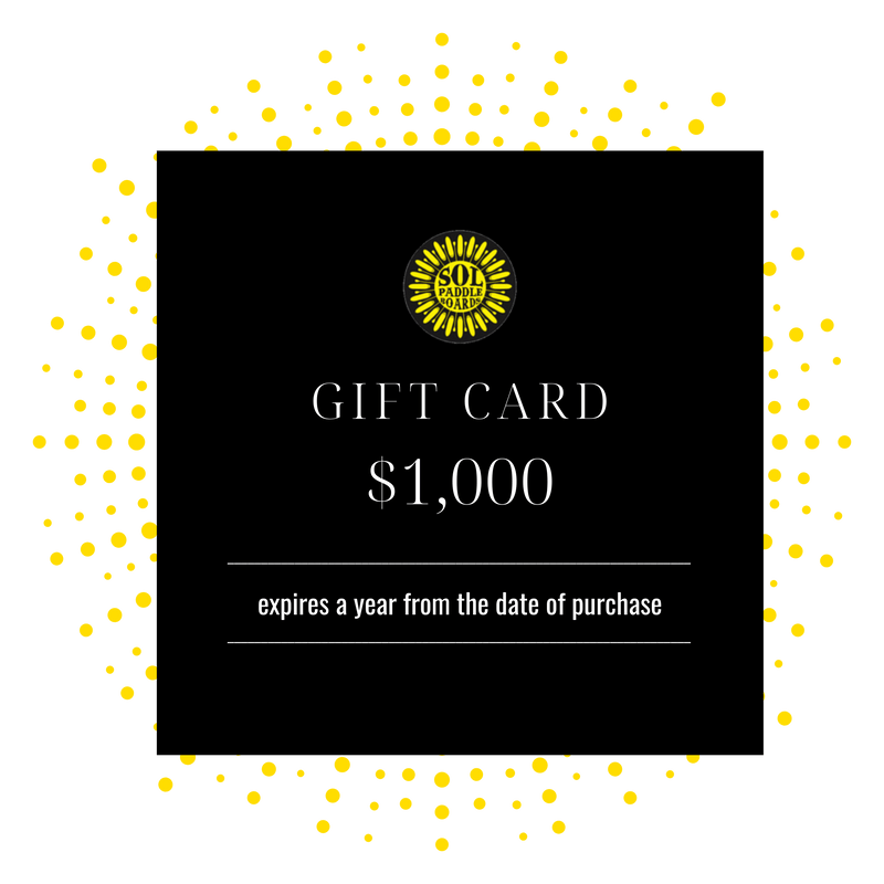 $1000 SOL Paddle Boards Gift Card