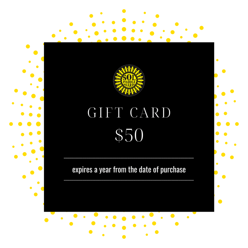 $50 SOL Paddle Boards Gift Card