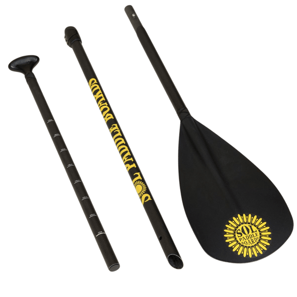 SOL Carbon Blaster Three-Piece Travel Paddle Separated