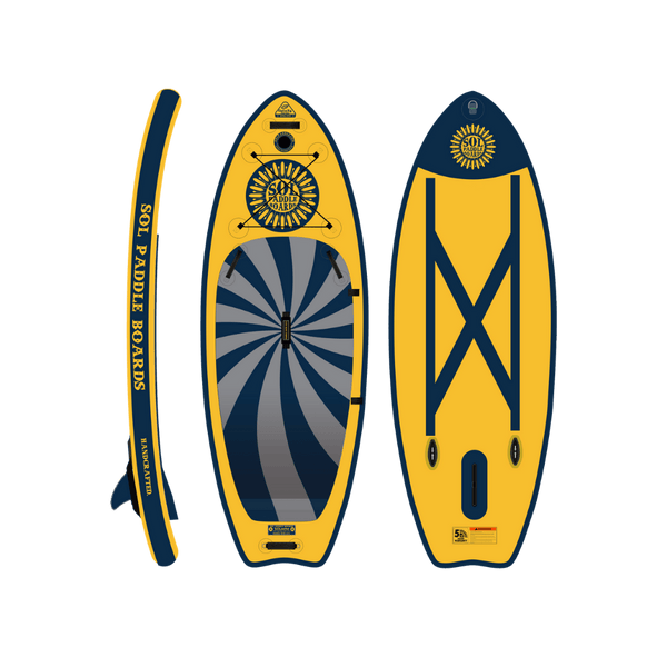 SOLocho Inflatable Paddle Board GalaXy Collection Side, Top and Bottom View