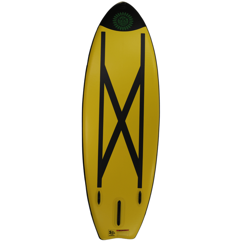 SOLshine Inflatable Paddle Board Carbon GalaXy Collection Botttom View