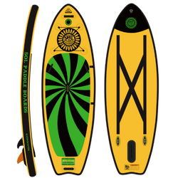 SOLshine Inflatable Paddle Board Carbon GalaXy Series Side, Top and Bottom View