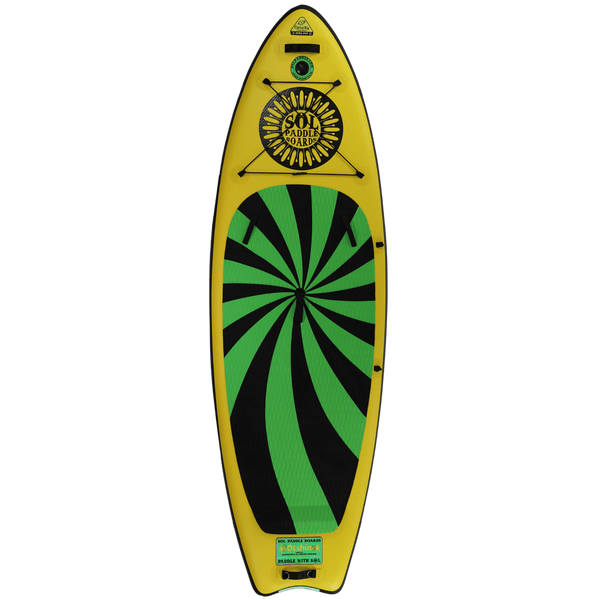 SOLshine Inflatable Paddle Board Carbon GalaXy Collection Top View