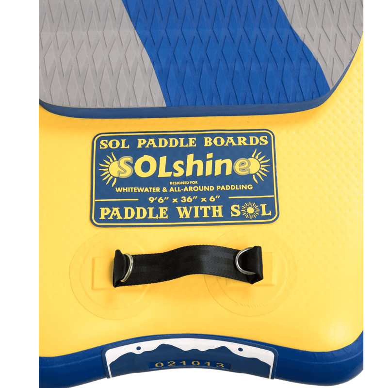 SOLshine Inflatable Paddle Board GalaXy Collection Name Plate View