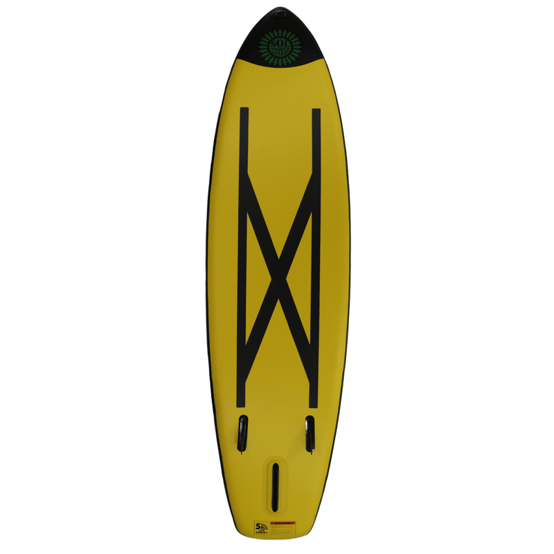 SOLtrain Inflatable Paddle Board Carbon GalaXy Collection Bottom View