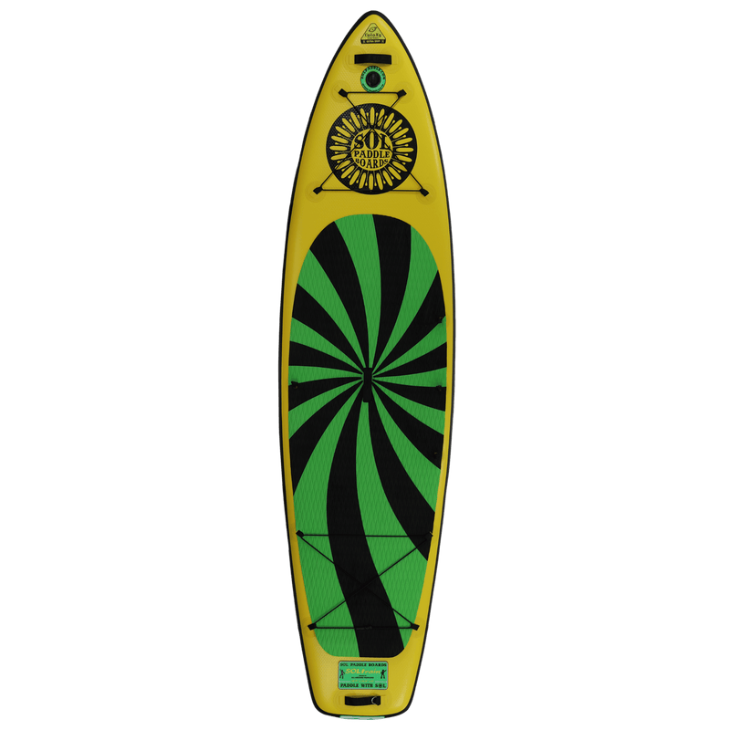 SOLtrain Inflatable Paddle Board Carbon GalaXy Collection Top View