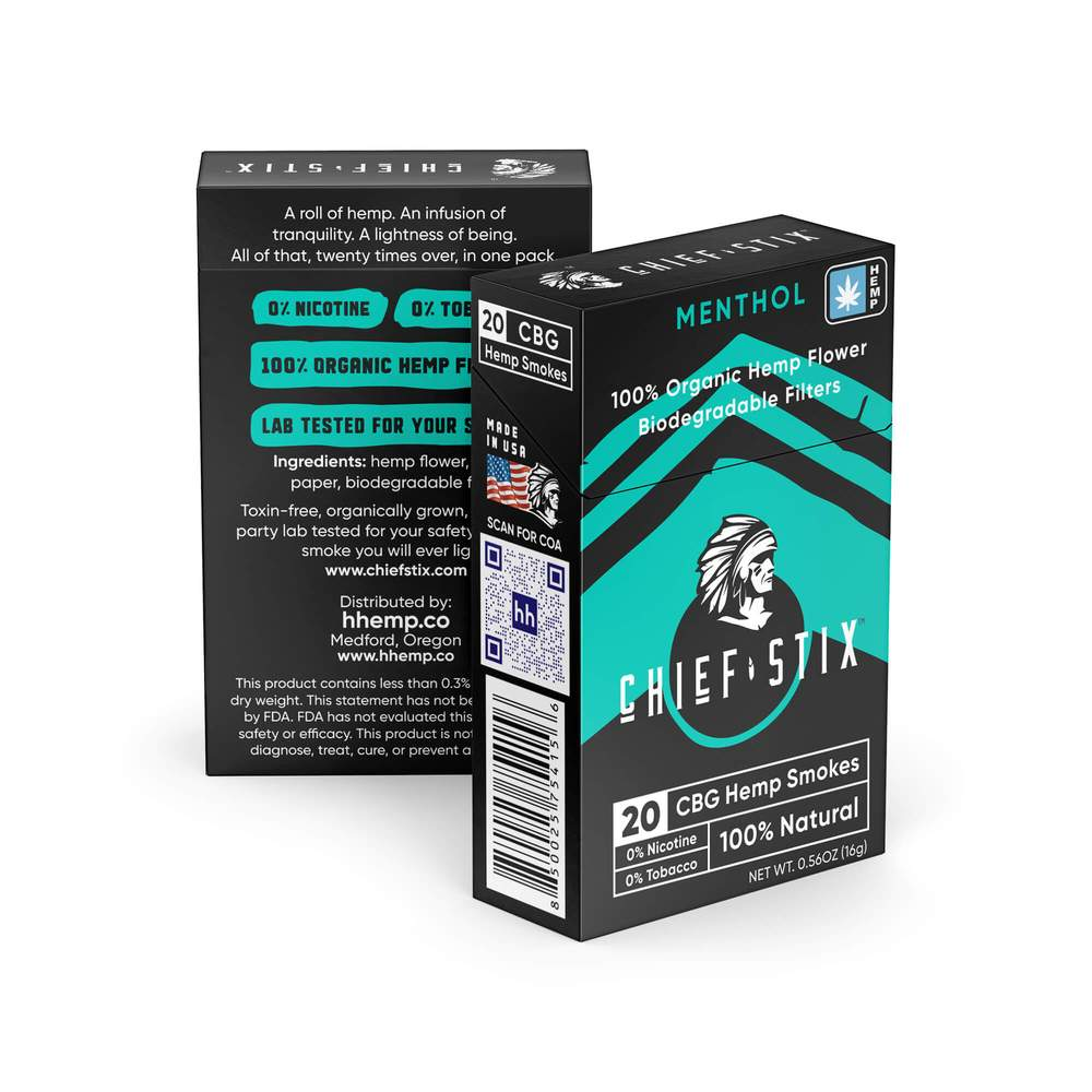 CHIEF STIX CBG SMOKES - MENTHOL (20CT/PACK)