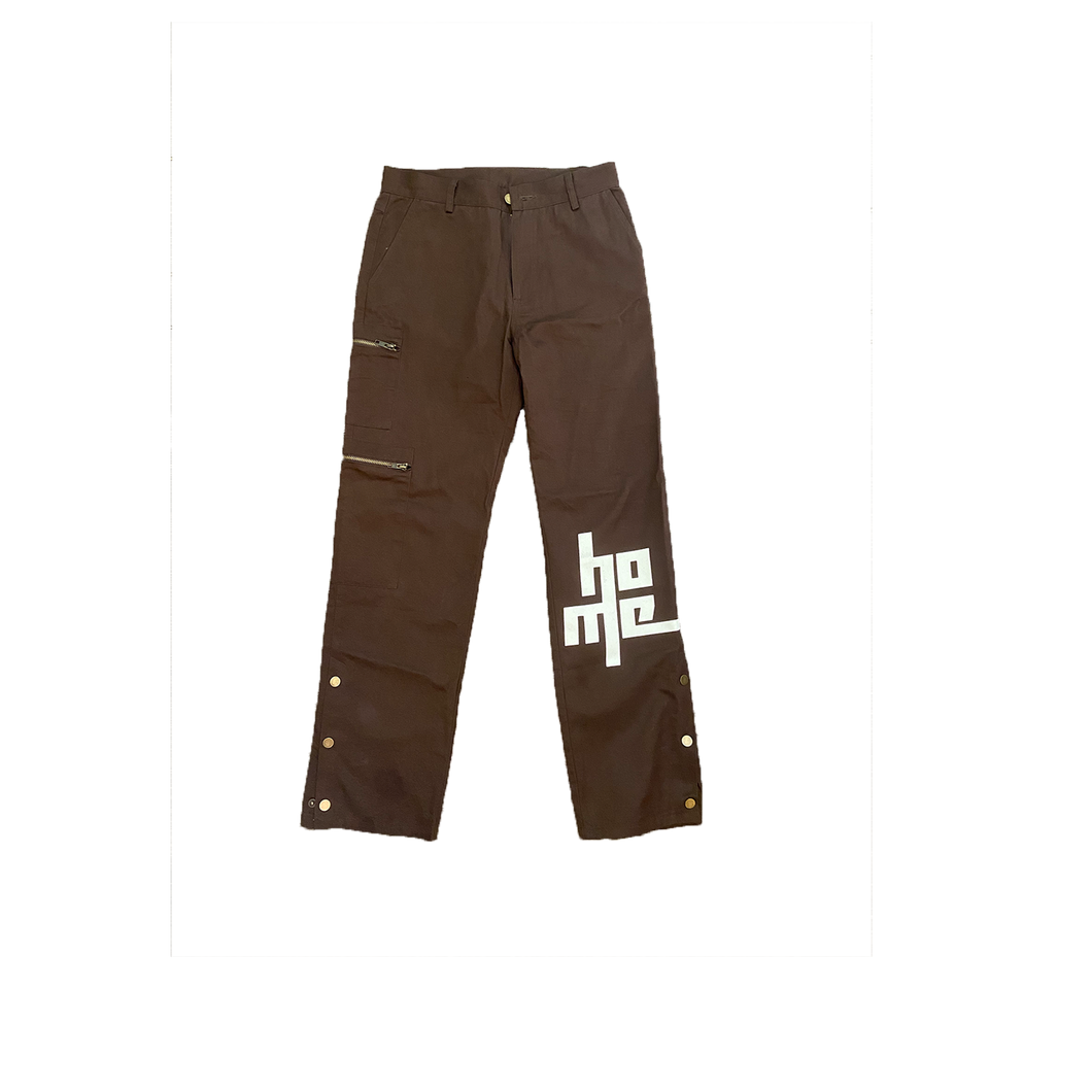 Snap Button Utility Pants