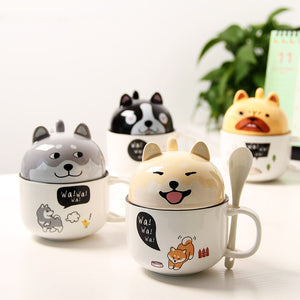 Caneca Dupla Cats & Dogs - 350ml
