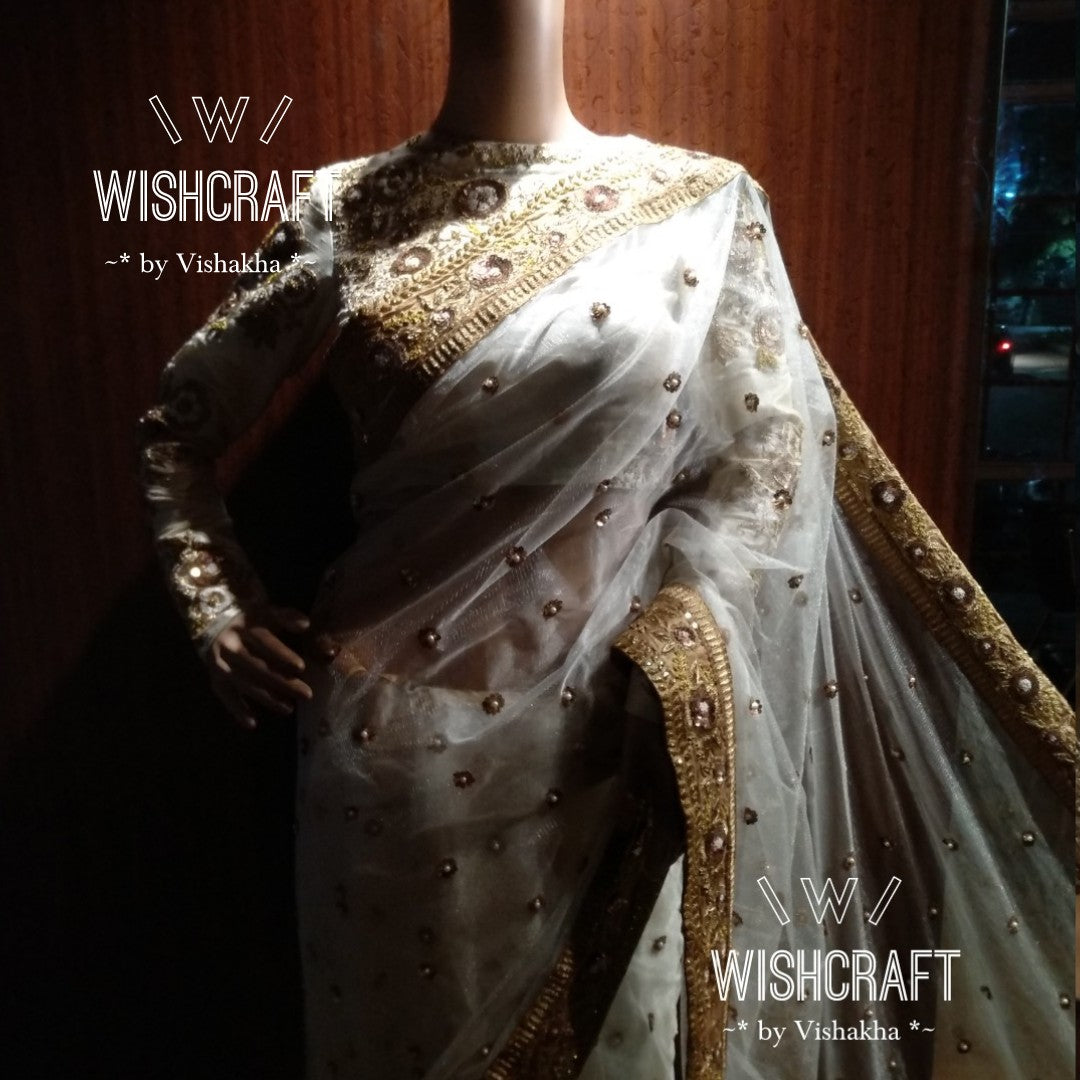 Royal exotic saree and blouse - beautifully handcrafted