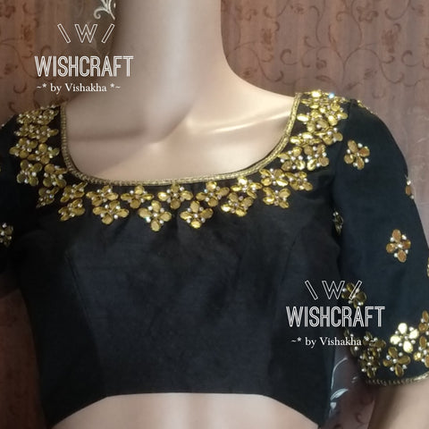 Beautiful gota patti embroidery blouse