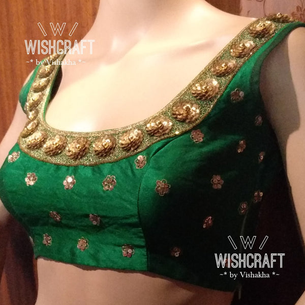 Gorgeous party wear blouse with sequins handwork