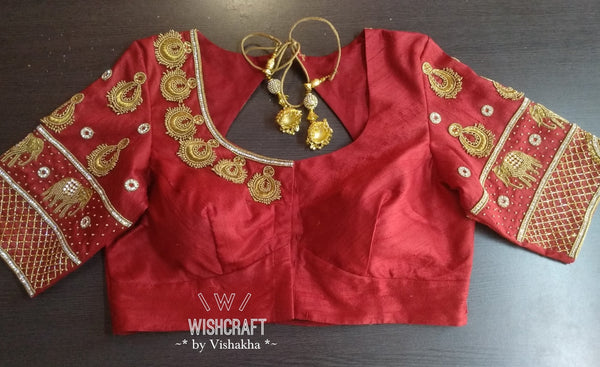 Bridal wear exotic designer saree blouse