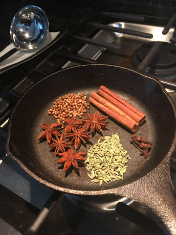 Spices for easy beef bone broth Vietnamese Pho