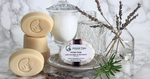 Hyssop Tree Soaps are made from all-natural ingredients