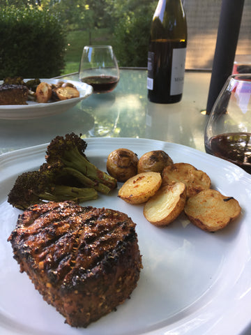 Grass Fed Beef Steak and Wine Dinner