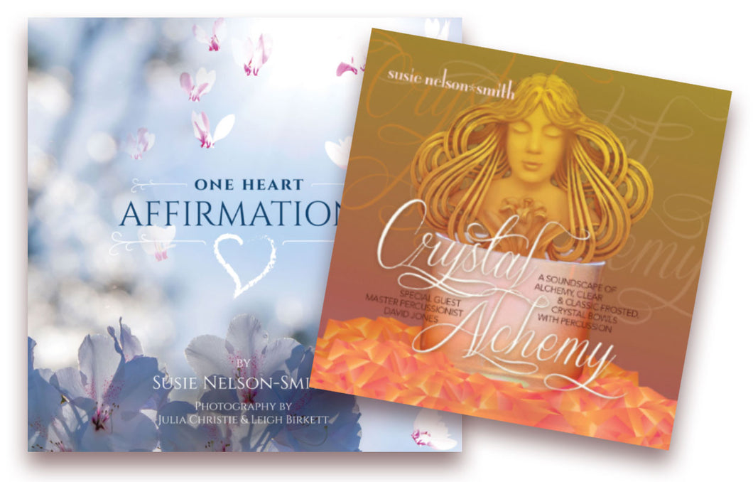 One Heart Affirmations plus Crystal Alchemy