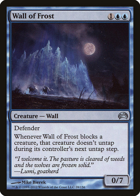Wall of Frost [Planechase 2012] | Gam3 Escape