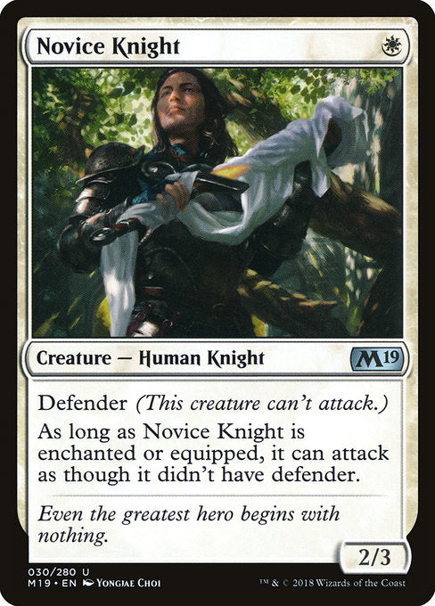 Novice Knight [Core Set 2019] | Gam3 Escape