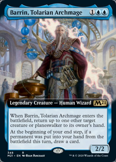Barrin, Tolarian Archmage (Extended Art) [Core Set 2021] | Gam3 Escape