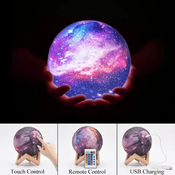 Galaxy Moon Lamp how to use