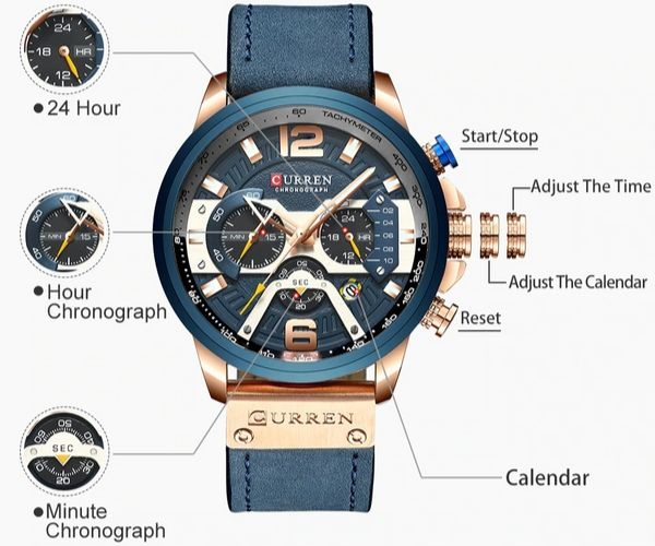 Acerot Chronograph Wrist Watch Functions Details