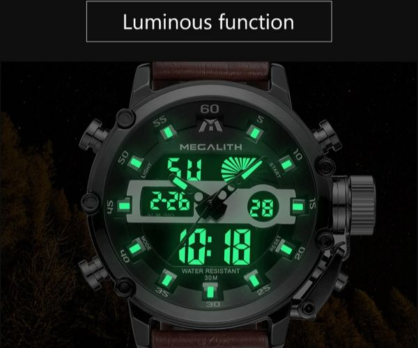 Bigon Men's Analog Digital Wrist Watch