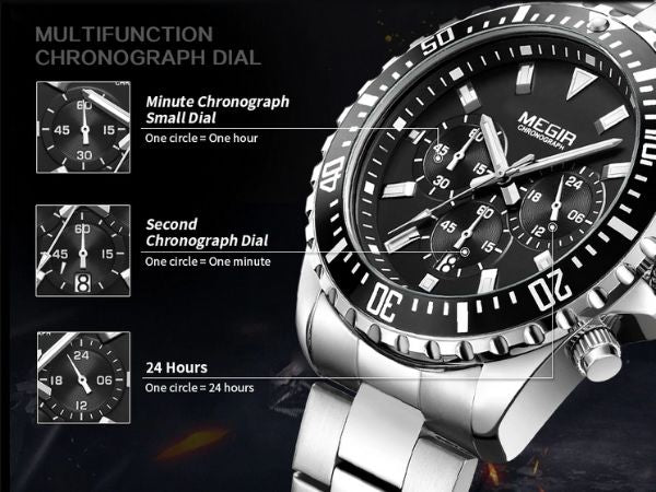Barsel Chronograph Gents Watch detail function