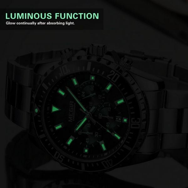 Barsel Chronograph Gents Watch luminous function