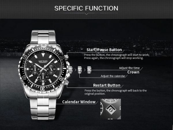 Barsel Chronograph Gents Watch specific function