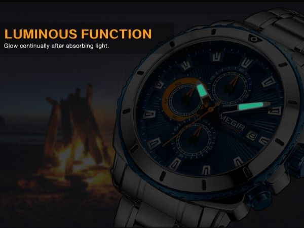 Bigoza Stainless Steel Gents Watch luminous function