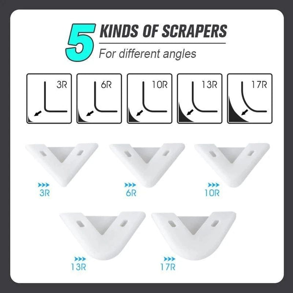 BringWish Glass Glue Angle Scraper 5 Heads