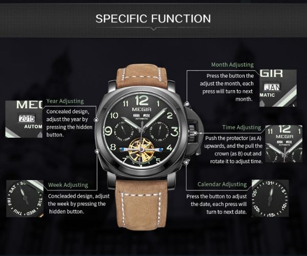 Vektor Vintage Military Automatic Watch