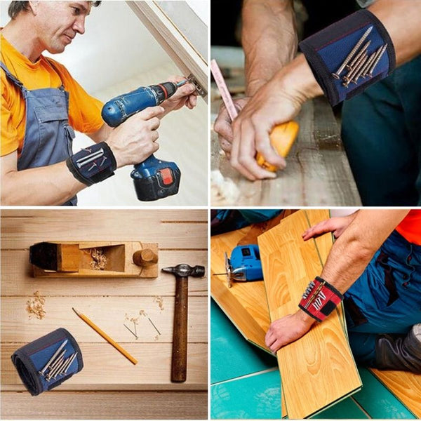 Handyman Pouch Magnetic Wristband Multiple Use