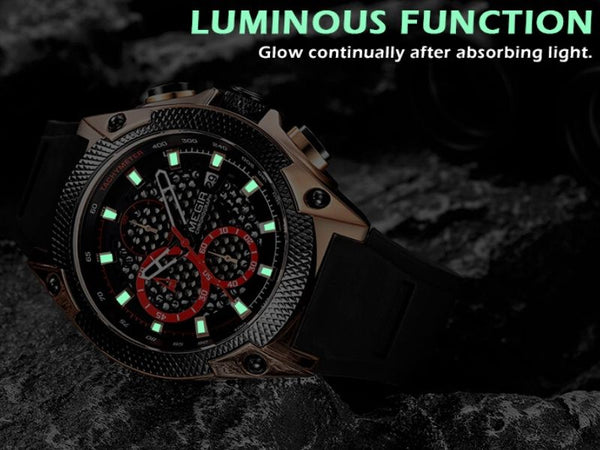Holez Mens Waterproof Sports Watch luminous function
