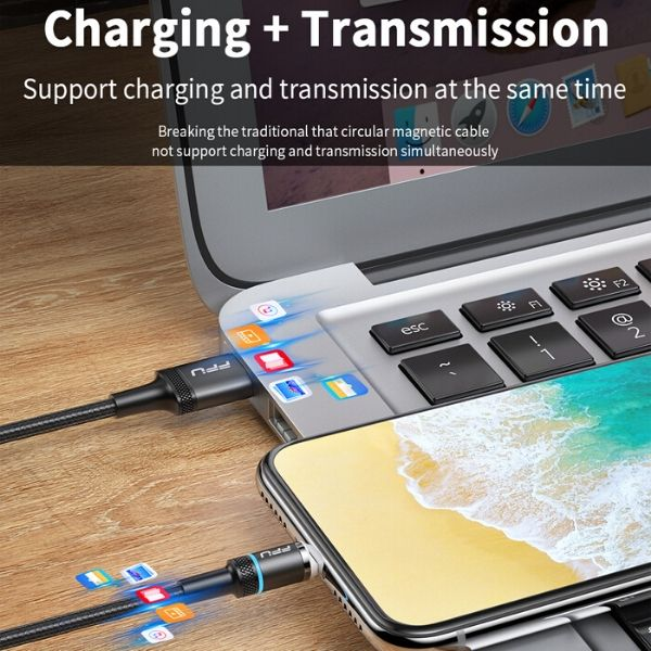 Magnetic Fast Charging Cable support transmission