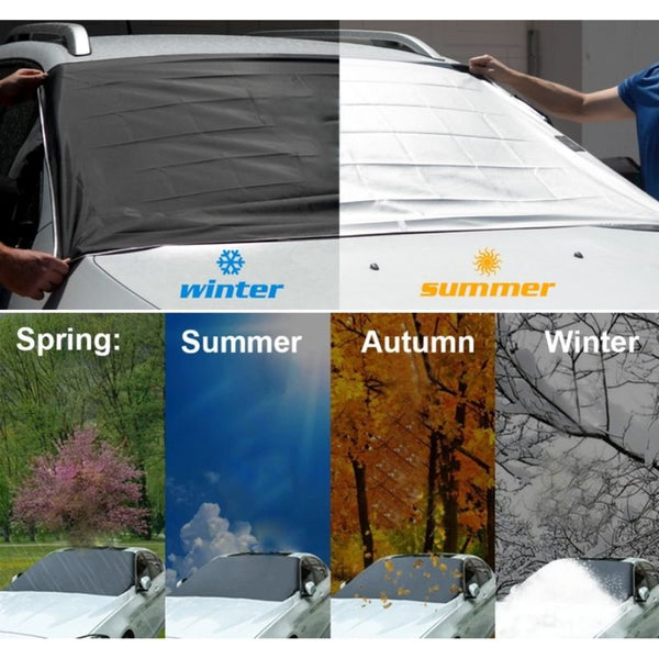 Magnetic Windshield Snow Cover for winter and summer
