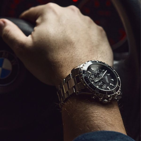 Man wearing Barsel Chronograph Gents Watch on wrist