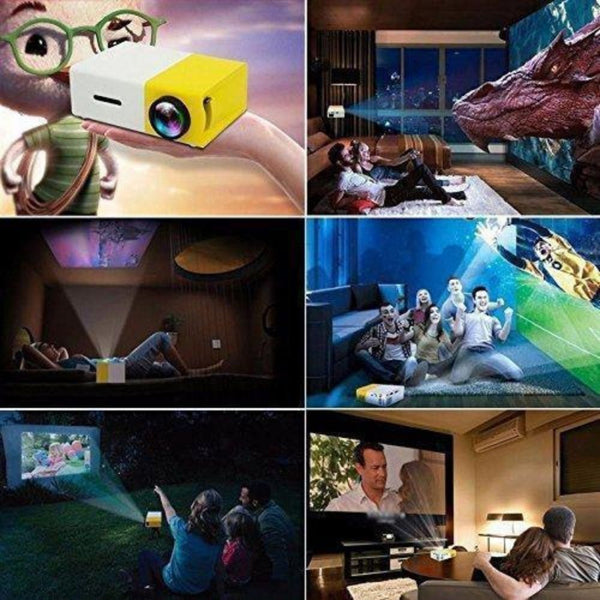Mini Projector For Home in use