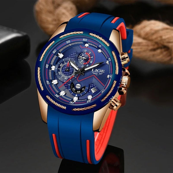Pazone Sports Military Watch blue color