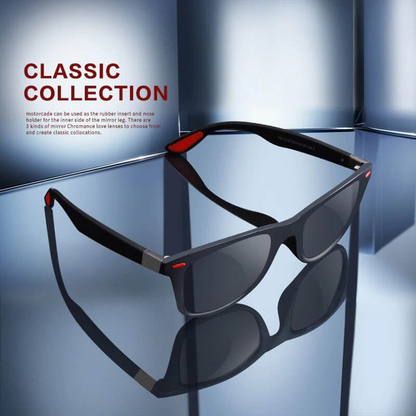 Polarized Square Aviator Sunglasses