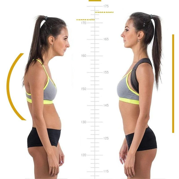 Posture Corrector Back Brace before and after