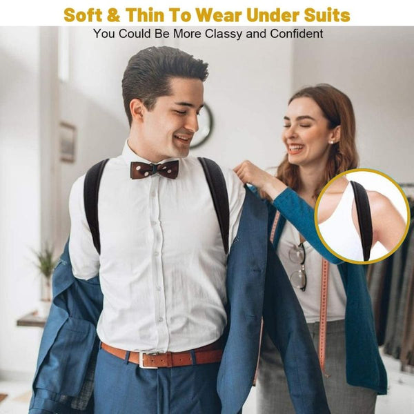 The Man and Woman wear the Posture Corrector Back Brace