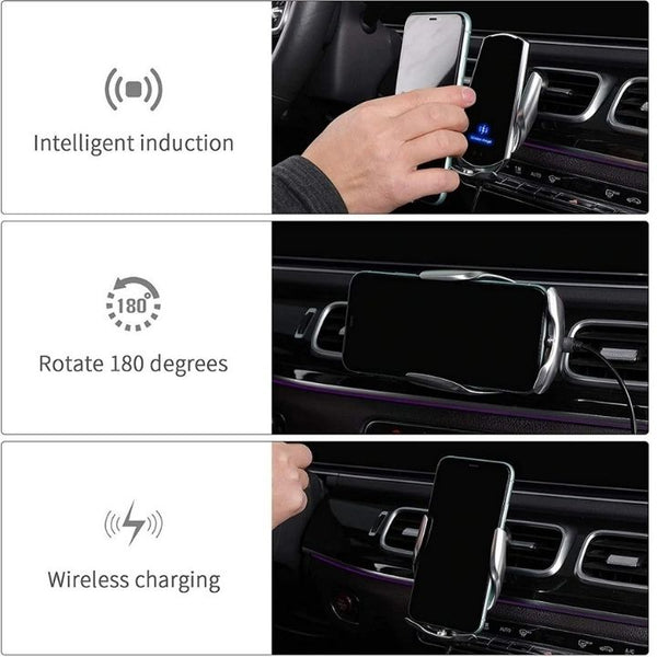 Smart Sensor Car Wireless Charger Functions
